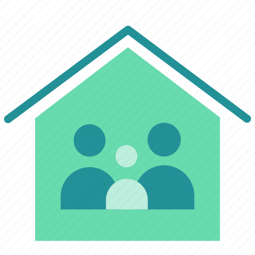 family, home, house, insurance, property, sell icon
