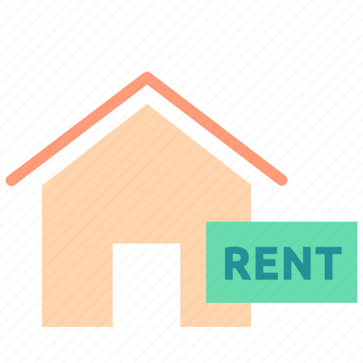 home, house, property, real estate, rent, sign icon
