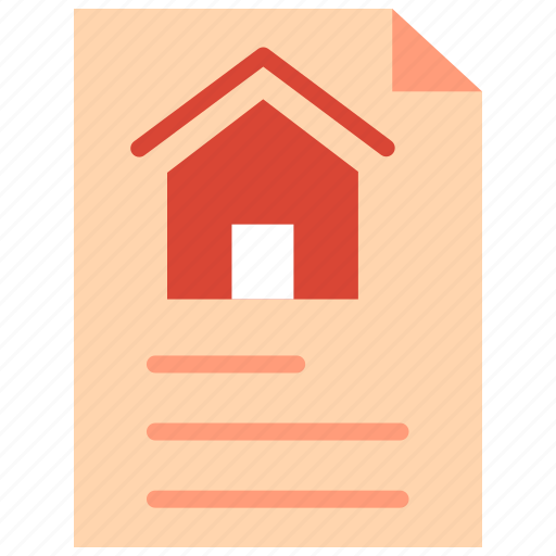 advertising, agreement, contract, property, real estate icon