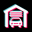 car, garage, home, house, parking icon