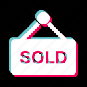 estate, offer, real, sign, sold icon
