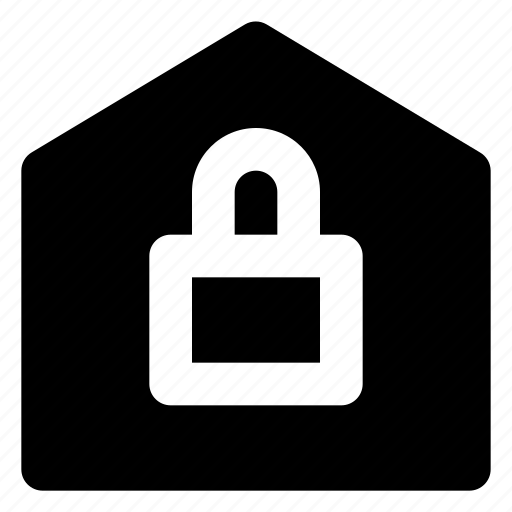 estate, house, lock, real, security icon
