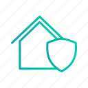 house, insurance, protection, safe, shield icon