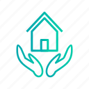 home, house, insurance, protection icon