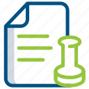 document, extension, file, folder, legal, paper, script icon