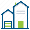building, construction, estate, house, property, real icon