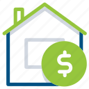 building, construction, home, house, rent, sell, sold icon