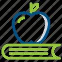 apple, book, high school, learn, school, student, study icon