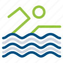 boat, pool, sea, swimming, water icon