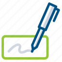 email, letter, message, signature, write, writing icon