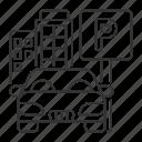 parking, automobile, garage, zone