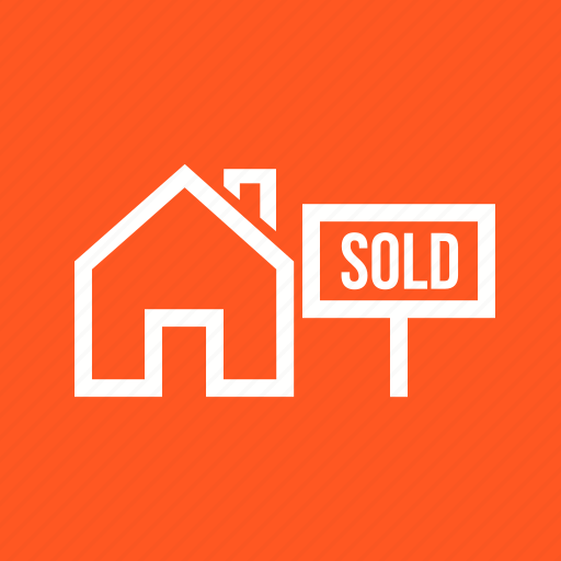 apartment, building, business, home, house, sale, sold icon