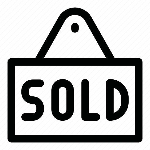 house, price, sale, sold, tip icon