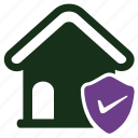 home insurance, protection, security icon