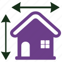 architecture, construction, house plan icon