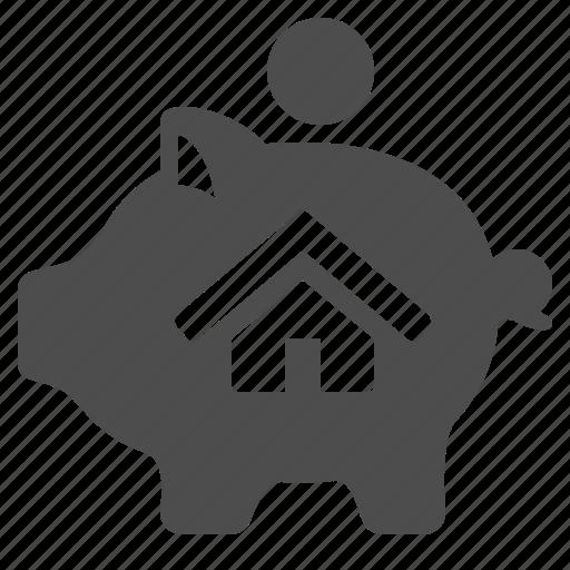 home, house, money, piggy bank, real estate, savings icon