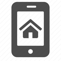house, mobile phone, online, phone, real estate, smartphone icon