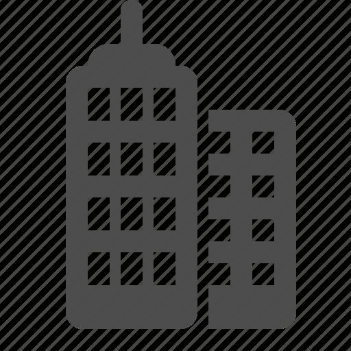 apartment building, buildings, flats, real estate, skyscraper icon