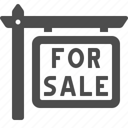 for sale, real estate, real estate sign, sale, sign icon