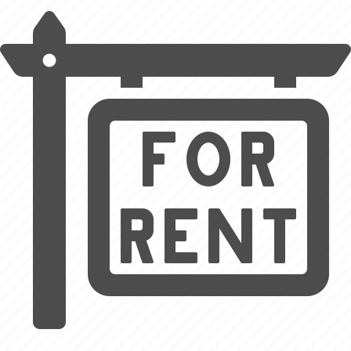 Find A Apartment For Rent: For Rent, Real Estate, Rent, Sign Icon