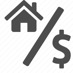 discount, house, money, percentage, real estate, sign icon