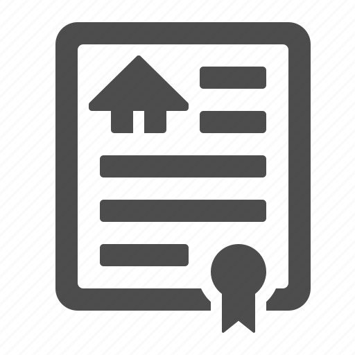 contract, deed, house, lease, rent icon