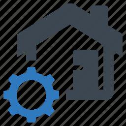 estate, real, settings icon