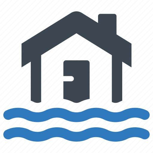 disaster, flood, home insurance, water icon