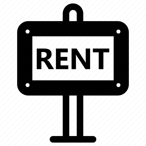 rent, sign icon