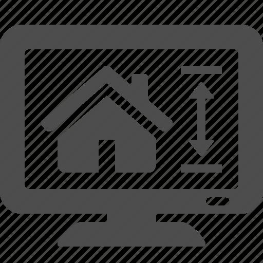 architect, architecture, design, house, monitor, real estate icon