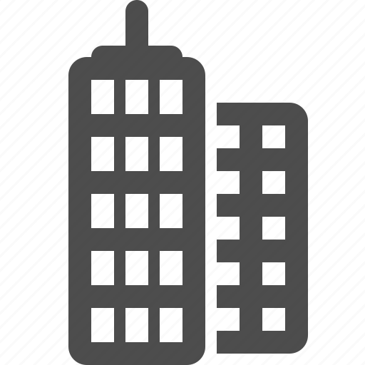 buildings, flats, office building, real estate icon