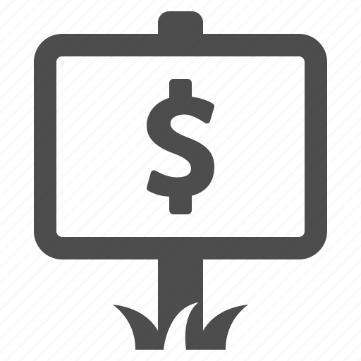 dollar, money, price, real estate, rent, sale, sign icon