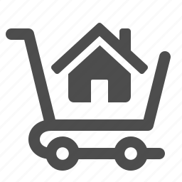 buy, home, house, shopping cart icon