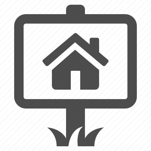 house, real estate, rent, sale, sign icon