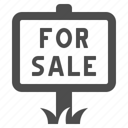 for sale, grass, house, real estate, sale, sign icon