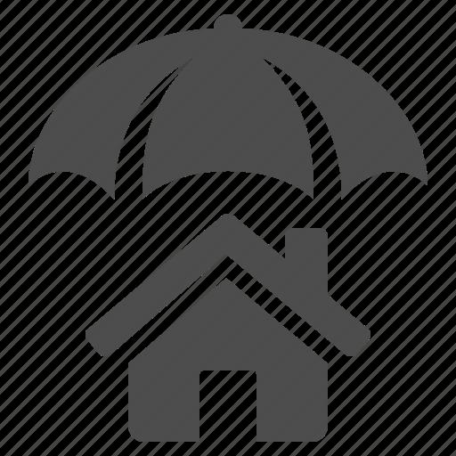 home, house, insurance, umbrella icon