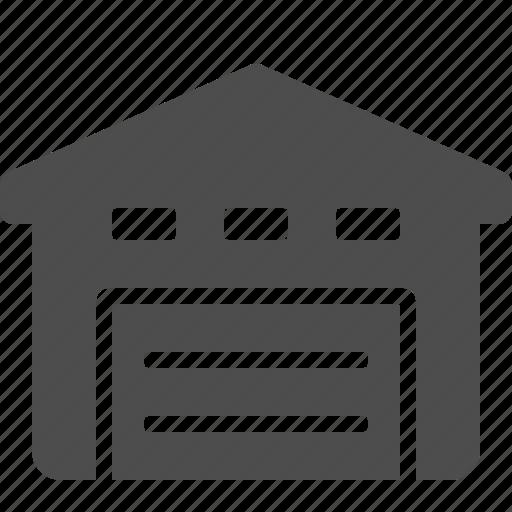 building, logistics, real estate, storage, unit, warehouse icon
