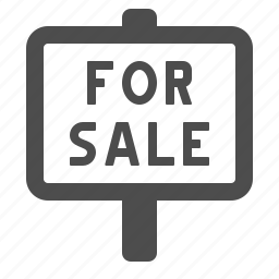 for sale, real estate, sale, sign icon