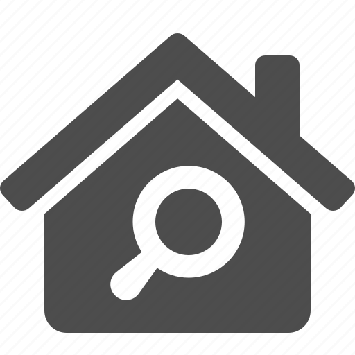 find, home, house, magnifying glass, real estate, search icon