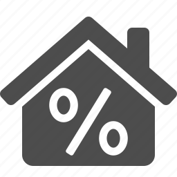 discount, home, house, percentage, real estate, sign icon