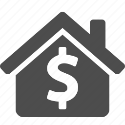 dollar, home, house, money, price, real estate, rent icon