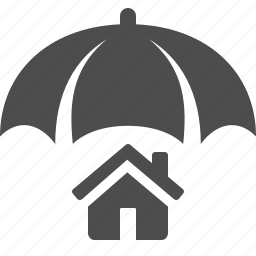 home, house, insurance, security, umbrella icon