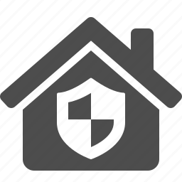 home, house, insurance, security, shield icon