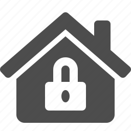 home, house, insurance, lock, locked, real estate, security icon