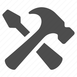 construction, hammer, screwdriver, tool, tools icon