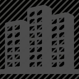 office building, real estate, skyline, skyscraper, tower icon
