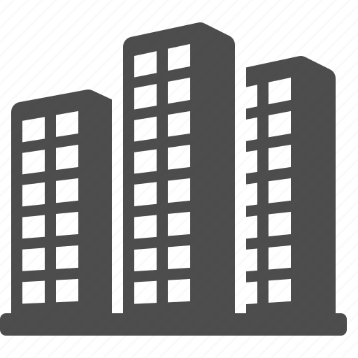 office buildings, real estate, skyline, skyscrapers, towers icon