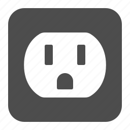 electric, outlet, plug, socket icon