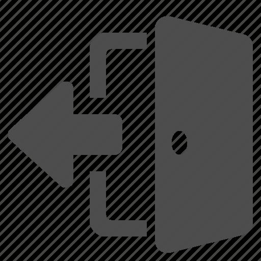 arrow, door, exit, open icon