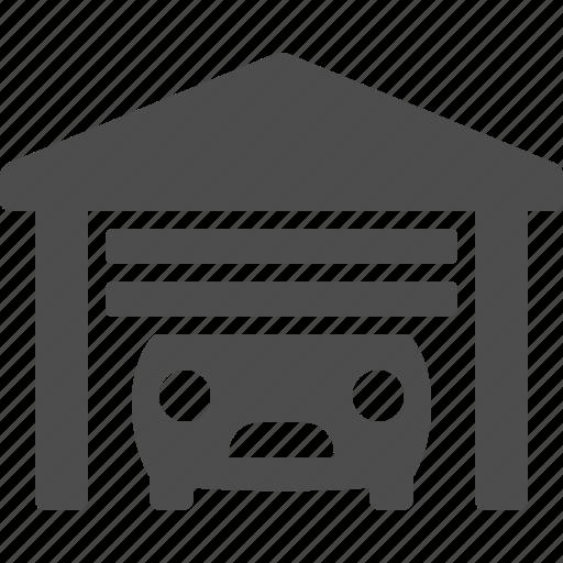 car, door, garage, real estate icon